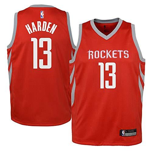 (Youth Houston Rockets #13 James Harden Red Swingman Jersey L)