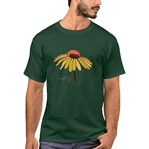 (Zazzle Men's Basic T-Shirt, Simplify - Organic Cotton Womens Tshirt, Deep Forest M)