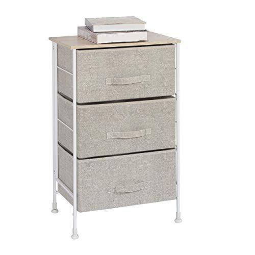 (HOMEXCEL Drawer Chest-3 Drawer Storage Chest,Dresser,Multi-Purpose Storage Cabinet,Foldable Drawer Organizer Unit with Fabric)