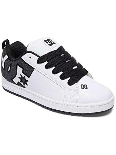 DC Shoes Court Graffik Se, Baskets Basses Homme, Weiß White/Charcoal