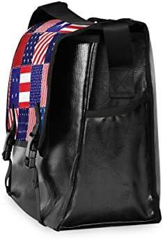 メッセンジャーバッグ メンズ アメリカ 国旗柄 チェック模様 斜めがけ 肩掛け カバン 大きめ キャンバス アウトドア 大容量 軽い おしゃれ