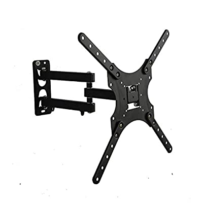 "Yuanshikj TV Wall Mount for most 22""-55"" LED LCD Plasma Flat Screen Monitor up to 88 lb VESA 400x400 with Full Motion Swivel Articulating 20 in Extension Arm,Bubble Level"