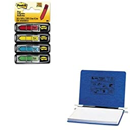 KITACC54133MMM684SH - Value Kit - Acco Pressboard Hanging Data Binder (ACC54133) and Post-it Arrow Message 1/2amp;quot; Flags (MMM684SH)