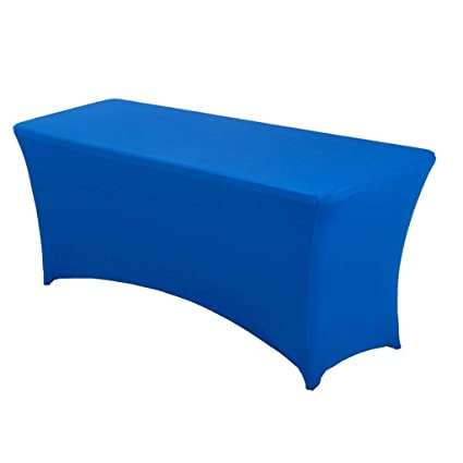 29fc309eb63fa BTSKY 6FT Rectangular Stretch Tablecloth - Spandex Table Cover for 6 Foot  Tables Wedding