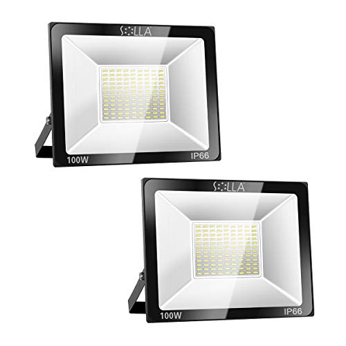 Solla 2 Pack 100W LED Flood Light