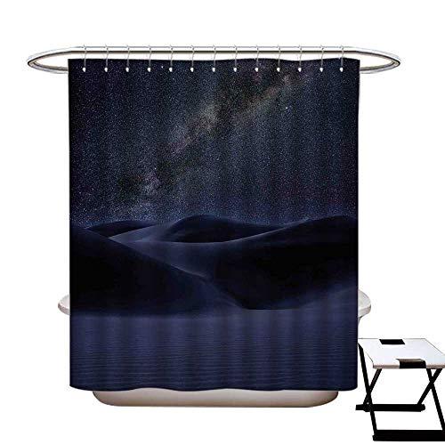 Stevenhome Cortina de Ducha Resistente al Moho con diseño de Nebulosa y Estrellas en el Espacio Exterior con 12 Anillas de...