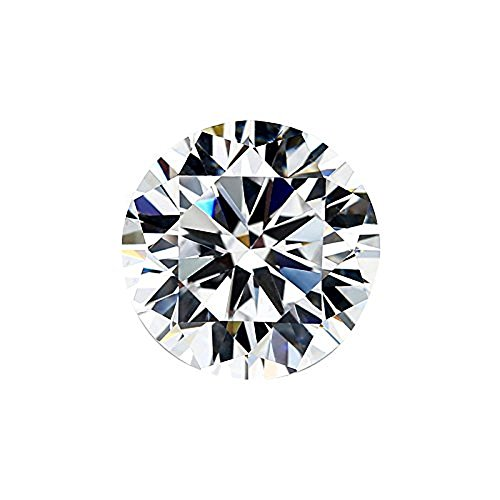 (SuperShineGems 0.60Cts Moissanite GH Colorless Simulated Diamond Loose Stone, Round Brilliant Cut VVS Clarity 5.50MM)
