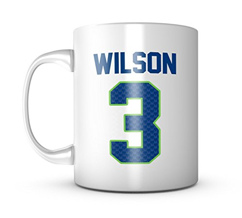 (Russell Wilson Mug - Jersey Number Football Coffee Cup)