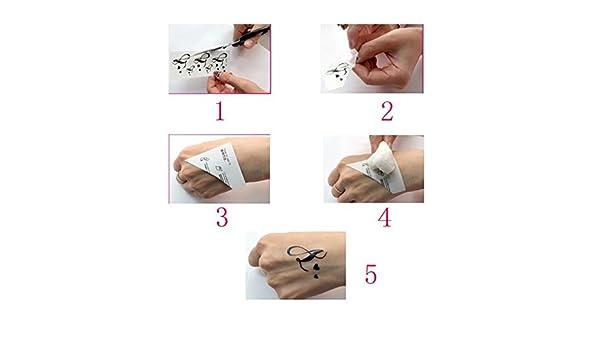 Amersasa - Tatuajes temporales impermeables 3D con mariposa y ...
