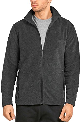 ToBeInStyle Men's Zip Up Long Sleeve High Collar Polar Fleece Jacket (2XL, - Top Long Fleece Sleeve Polar