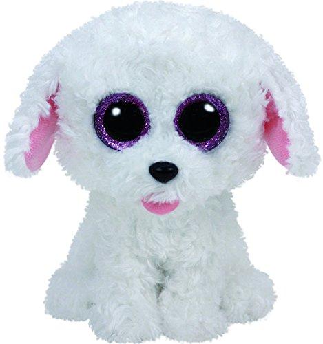 Ty Pippie Dog Plush, White, Medium (Beanie Boos Sports)