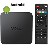 2017 MXQ Android TV BOX 4K 1+8GB/2.4G Wifi/100M android tv box Support Full HD Mini PC