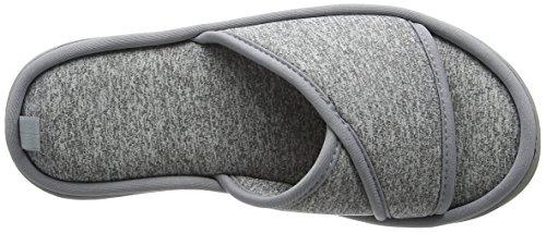 Dearfoams Damen Slide Pantoffeln Grey (Sleet)