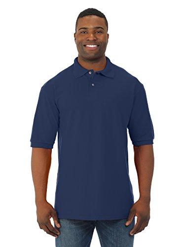 Ringspun Pique Shirt (A&E Designs mens 6.5 oz. Ringspun Cotton Pique Polo(440)-J NAVY-XL)