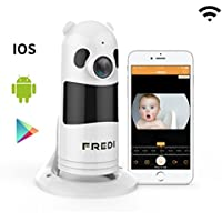 FREDI Baby Monitor Wireless WIFI IP Surveillance Camera 1080P HD Security Camera With Two-Way Talking,Infrared Night Vision,P2P Wps Ir-Cut Nanny Camera Motion Detection Loop recording(Without SD Card)