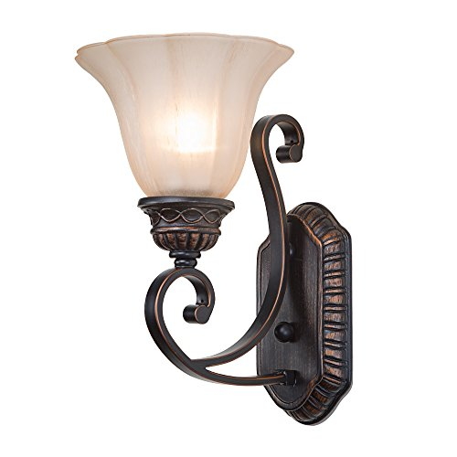 LNC Traditional Wall Sconces White Bell Glass Sconces Wall Lighting Wall Lamp For Sale