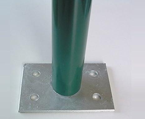 Italfrom supporto zincato per fissaggio a terra per palo tubolare
