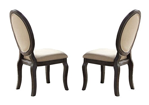 Homelegance Lindley 2 Piece Pack Modern Dining Chairs, Beige