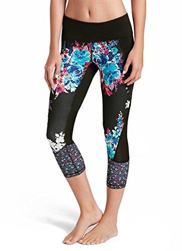 Ditsy Floral Leggings - Jockey Women's Activewear Printed Crop Legging, Bouquet/Ditsy Floral, L