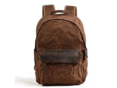 Mode-Unisex-Reiserucksack, Outdoor und Indoor Herren Öl Wachs Wachs Wachs Canvas Tasche Freizeit Outdoor Große Kapazität Rucksack Kletterrucksack (Kaffee) B07L987ZB9   Nutzen Sie Materialien voll aus  d5acf6