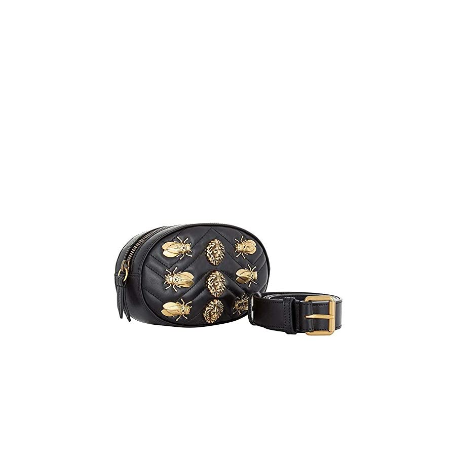Beatfull Fashion Fanny Packs, Designer Waist Bag for Women with Insect Pattern, Leather Belt Bag