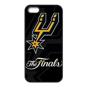 DIY case 1 NBA Team San Antonio Spurs Print Black Case With Hard Shell Cover for Apple iPhone 5/5S wangjiang maoyi