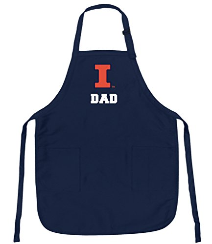 Broad Bay University of Illinois Dad Apron Stain Release Illini Dad Aprons