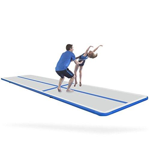 Creacolis Gymnastic Inflatable Air Track Tumbling Mat/Home Set/Inclined Mat/Air Beam/Yoga Mat with Pump