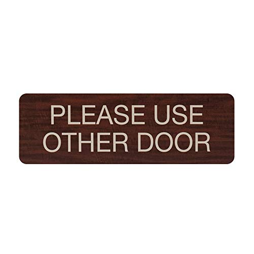 Please Use Other Door Indoor Easy Adhesive Mount Door and Wall Sign for Restaraunts and Small Businesses 3