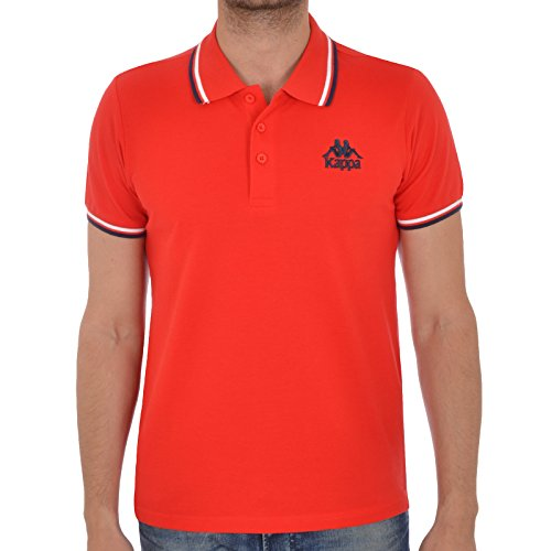 kappa-sports-mens-casual-polo-shirt-red-m
