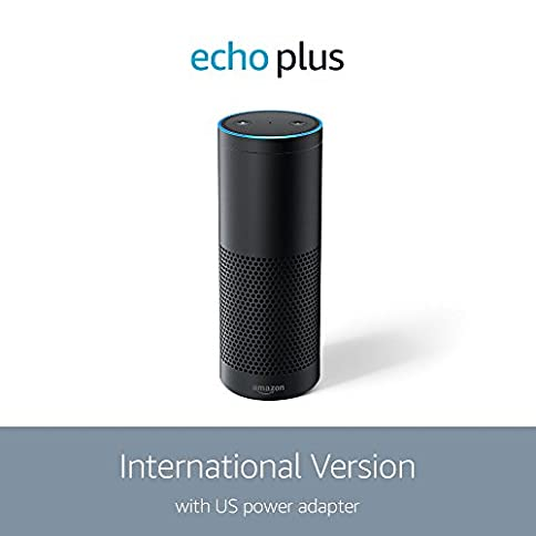 echo plus with built-in hub (international version) – black - 41r6YY 8YBL - Echo Plus with built-in Hub (International Version) – Black