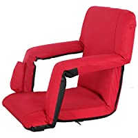 Smartxchoices Portable Stadium Seats for Bleachers Padded with Back/Arms,Water Resistant Reclining Chair for Outdoor or Indoor Backpack Straps Easy to Transport