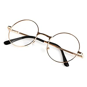 Magicub Retro Unisex Round Presbyopic Reading Glasses Metal Frame Personality Eyeglass 1.0 ~4.0 (GD 2.0)