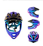Cw 14-Hole Ventilationchildren Bicycle Helmet Motorcycle Full Face Helmet Child Safety Guard Sports Protection Equipment Riding Skating,Purple