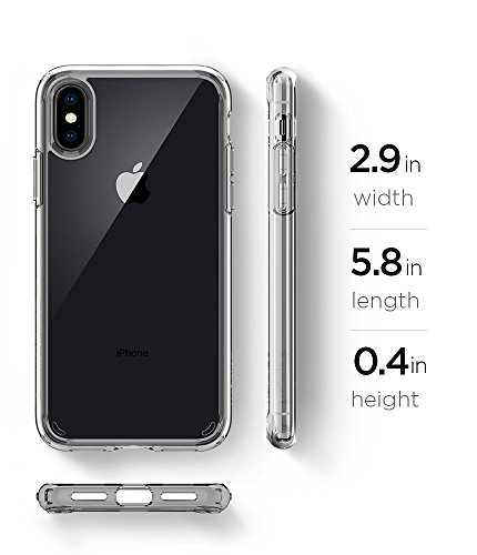 Spigen Ultra Hybrid iPhone X Case with Air Cushion Technology and Hybrid Drop Protection for Apple iPhone X (2017) - Crystal Clear by Spigen (Image #8)
