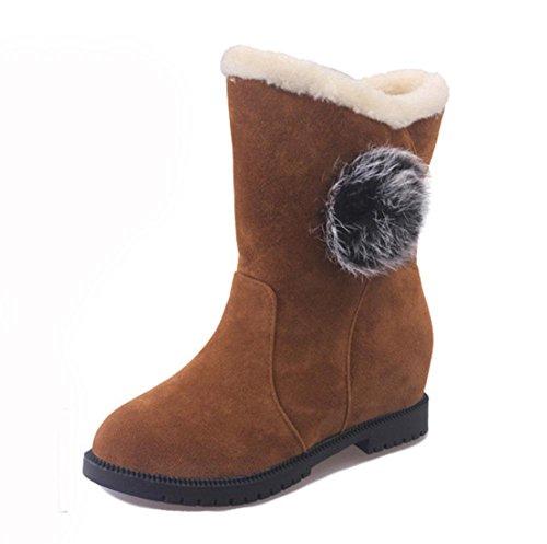 MEILI tubo Scarpe stivali da signora yellow caldi zeppe scarpe studenti da cotone donna marea scarponi cashmere di neve da donna più corto stivali rrtxZgw