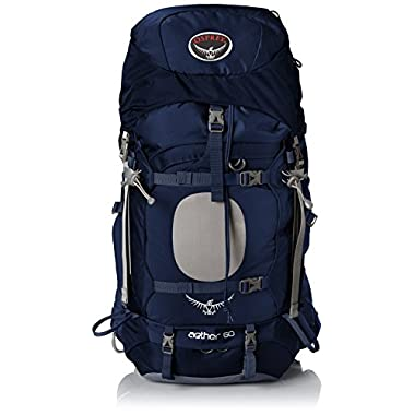 Osprey Men's Aether 60 Backpack, Midnight Blue, Large