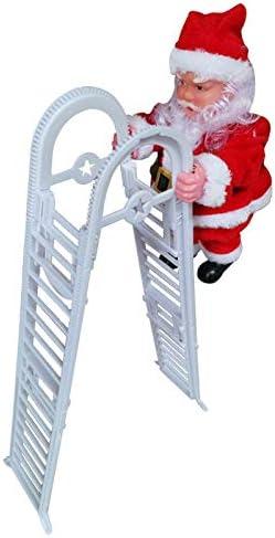 SODIAL Nueva Navidad Encantadora Papá Noel Escalera EléCtrica Escalera DecoracióN Colgante Adornos para áRboles De Navidad Divertido A?O Nuevo Regalos para Ni?Os Fiesta: Amazon.es: Hogar