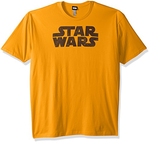 Star Wars Men's Simplest Logo Graphic Tee, Gold,