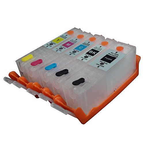 CEYE For CANON IX6820 MX722 MX922 Empty Refillable Ink Cartridge PGI-250 CLI-251 5pcs