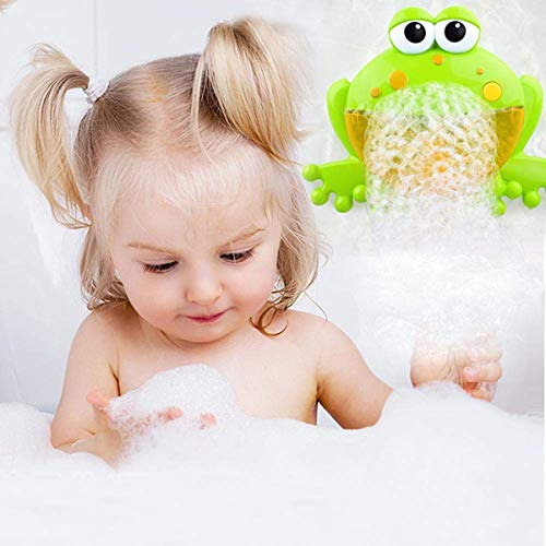 PBOX Frog Baby Bath Toy,Bubble Toy Musical Toy Bubble Maker with Nursery Rhyme Bathtub Bubble Toys for Infant Baby Children Kids Happy Tub Time,Bubble Machine for Boys and Girls Aged 1 2 3 4 (A) by PBOX (Image #5)