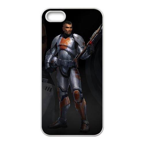 Star Wars The Old Republic 7 coque iPhone 5 5s cellulaire cas coque de téléphone cas blanche couverture de téléphone portable EEECBCAAN00655