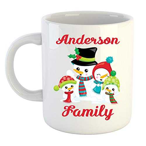 - Personalized Family Mug- Snowman Mug- Custom Coffee Mug-Family Christmas Mug-Personalized Snowman Mug-Great Gift Idea-Christmas Mug