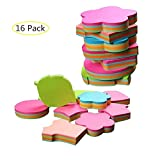 Naovio Cute Creative Sticky Note Office Memo Note Random Delivery(16 Packs,100 Sheets per Pack)