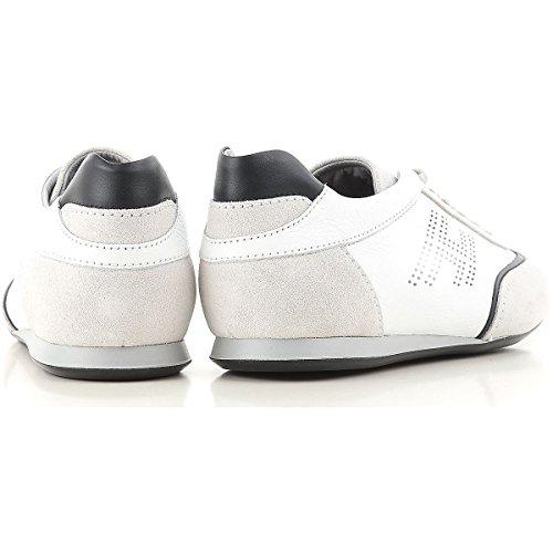 Hogan Sneakers Uomo Olympia In Pelle E Camoscio Mod. Hxm0520g752ifw0pbv Bianca 7½