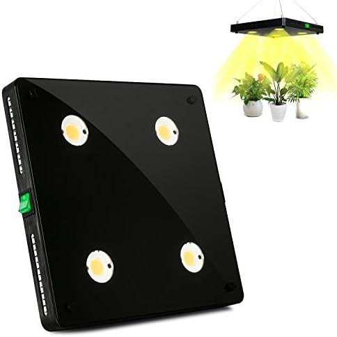 COB LED Grow Light Full Spectrum, CFGROW 360W LED Plant Grow Lamp for Indoor Plants, Plant Growing Light Lamp Panel, Ultra-Thin No Fan No Noise BlackSun 360W