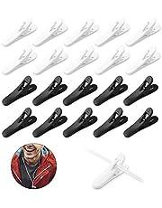 20 STKS Hoofdtelefoon Draad Clips Draad Revers Clip Headset Kabel Koord Clips Hoofdtelefoon Houder Clip Oortelefoon Accessoires Voor Running Wandelen Wandelen (Zwart En Wit)