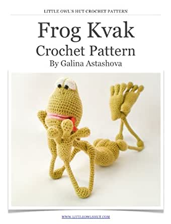 Frog Kvak Crochet Pattern. Amigurumi toy with wire frame ...
