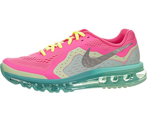 Nike Air Max 2014 Big Kids Style Shoes : 631331, Hyper Pink/Metallic Silver-Volt-Hyper J, 6