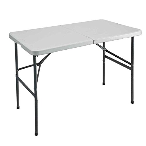 Mesa plegable rectangular 120 x 59 x 74 cm: Amazon.es: Jardín
